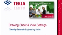 Tekla USA Webinars - Drawing Sheet and View Settings, Part 1 of 8